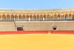 Bullfight arena, plaza de toros in Seville,La Maestranza Royalty Free Stock Photos