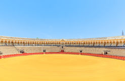Bullfight arena, plaza de toros in Seville,La Maestranza Stock Images