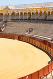 Bullfight arena, plaza de toros in Seville,La Maestranza Stock Photo