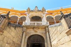 Bullfight arena, plaza de toros in Seville,La Maestranza Stock Photography
