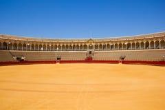 Bullfight arena,  Sevilla, Spain. Bullfight arena, plaza de toros, Sevilla, Spain Stock Photo