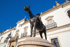 Bullfight arena.View of the facade of Real Maestranza de Caballe Stock Photo