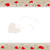 Bullfight background frame vector Royalty Free Stock Photos