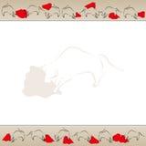 Bullfight background frame vector Royalty Free Stock Photos