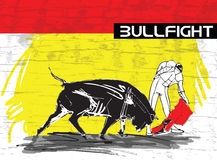 Bullfight illustration Royalty Free Stock Photo