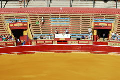 Bullfight at plaza de toros in Spain. Stock Images
