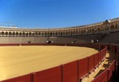 Bullfight Ring. Oldest Bullfight ring in Spain, Seville The Plaza de Toros de la Maestranza Stock Photos