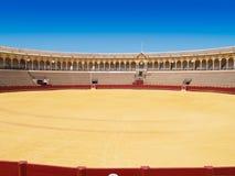 Bullfightarena av Seville, Spanien Royaltyfria Foton