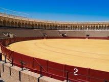 Bullfightarena av Seville, Spanien Arkivfoto
