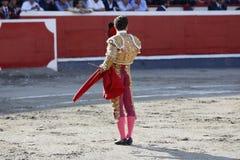 Bullfighter в арене Стоковая Фотография