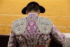 Bullfighter. Spanish bullfighter seen from behind Stock Photos