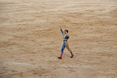 Bullfighter in a bullring, Barcelona Royalty Free Stock Images