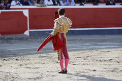 Bullfighter in bullring Stock Photography