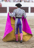 Bullfighter with the capote or cape Royalty Free Stock Image