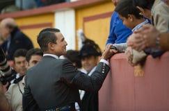 Bullfighter follower Royalty Free Stock Photography
