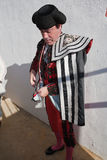 Bullfighter getting dressed for the paseillo or initial parade Stock Photography
