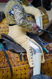 Bullfighter horseman Stock Images