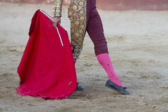 Bullfighter  with the muleta Royalty Free Stock Image