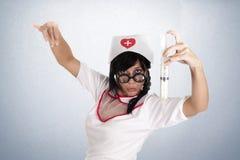 Bullfighter nurse Stock Photo
