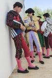 Bullfighter at the paseillo or initial parade Bullfight at Anduj Stock Photography