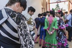 Bullfighter at the paseillo or initial parade Bullfight at Anduj Stock Images