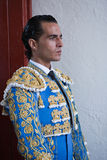 Bullfighter spanish Ivan Fandiño waiting for the exit in the alley from the bullring of Jaen Stock Images