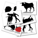 bullfighterillustrationer spain Arkivfoto