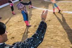 Bullfighters на paseillo или начальном параде Стоковое Фото