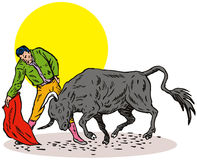Bullfighting Royalty Free Stock Photo
