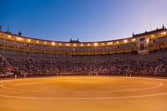 Bullfighting arena corrida at Madrid Spain. Bullfighting arena - corrida at Madrid Spain Royalty Free Stock Images