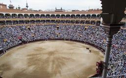 Bullfighting arena. Corrida at Madrid Spain Royalty Free Stock Photography