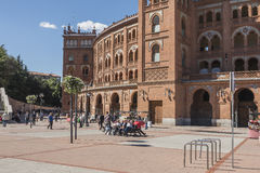 Bullfighting arena in Madrid Spain Stock Images