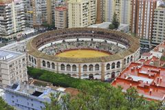 Bullfighting Arena, Malaga, Spain Stock Photos