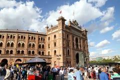 Bullfighting arena Plaza de Toros de Las Ventas in Madrid Royalty Free Stock Photography