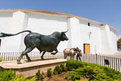 Arena Ronda, Spain. Bullfighting arena in Ronda. spain Stock Images