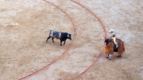 Bullfighting in arena Toros Royalty Free Stock Photos