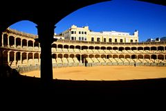 Bullfighting. Image of a bullfighting arena in Spain Stock Photography