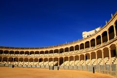 Bullfighting. Image of a bullfighting arena in Spain Royalty Free Stock Photography