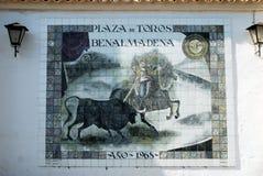 Bullfighting picture, Benalmadena. Stock Photos
