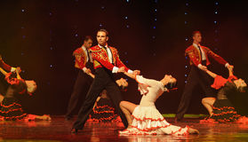 Bullfighting rider-Spanish flamenco-the Austria's world Dance Royalty Free Stock Image