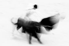 Bullfigting in bullring Las Ventas, Madrid, Spain. Royalty Free Stock Photos