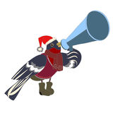 Bullfinch, που μιλά μέσω megaphone Στοκ Εικόνες