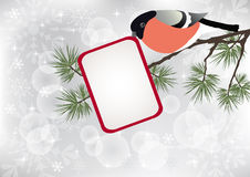 Bullfinch on the branch. Vector illustration royalty free illustration