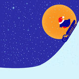 Bullfinch riding on sled Stock Images