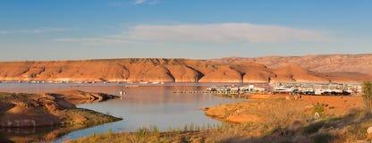 Bullfrog Marina Lake Powell at Sunrise Stock Photography