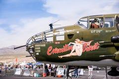 B-25 bombowiec przy pokaz lotniczy Fotografia Royalty Free