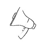 Bullhorn announce device. Icon  illustration graphic Royalty Free Stock Images