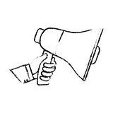 Bullhorn announce device. Icon  illustration graphic Stock Images