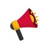 Bullhorn announce device. Icon  illustration graphic design Stock Photo