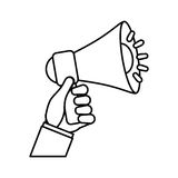 Bullhorn announce device. Icon  illustration graphic design Royalty Free Stock Photography